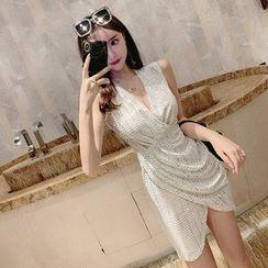 Maine - 亮片无袖塑身连衣裙