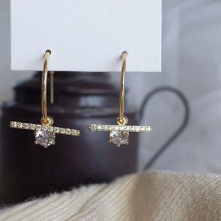 Covette - Rhinestone Hoop Earring