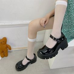 CYOS(サイオス) - Platform Patent Mary Jane Shoes