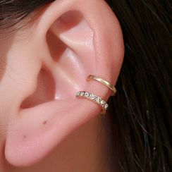 Cheermo - Rhinestone Layered Ear Cuff
