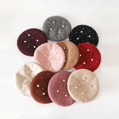 FROME - Faux Pearl Beret Hat