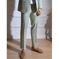 STYLEMAN - Pastel-Color Straight-Cut Dress Pants