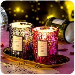 Momoi - Fragrance Candle with Textured Glass Candle Holder