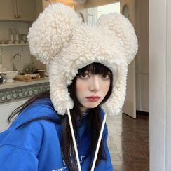 Pompabee - Bear Ear Fleece Trapper Hat