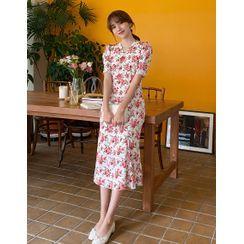 Dali hotel - 'ROOM 508' Floral Long Mermaid Dress