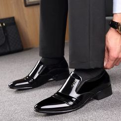 Kayne H - Patent Pleated Dress Shoes