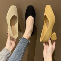 Novice - Fabric Block Heel Pumps