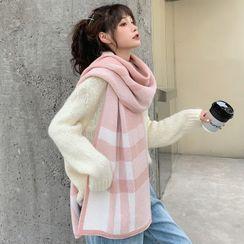 Dreamaway - 格子针织围巾