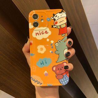 Huella(ヒューラ) - Cartoon Phone Case For iPhone SE / 7 / 7 Plus / 8 / 8 Plus / X / XS / XR / XS Max / 11 / 11 Pro / 12 Mini / 12 / 12 Pro / 12 Pro Max