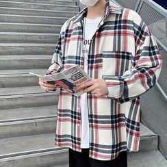 Bay Go Mall - Plaid Pocket Detail Shirt