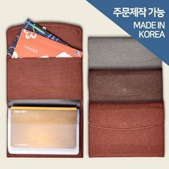 BABOSARANG - Pleather Bankbook Wallet