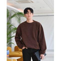 GERIO - Drawcord-Hem Fleece Pullover in 10 colors