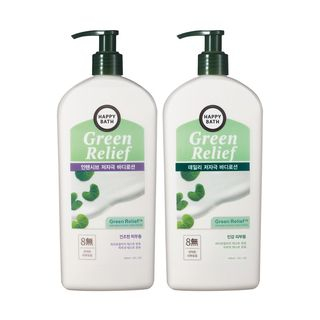 HAPPY BATH - Green Relief Body Lotion - 2 Types
