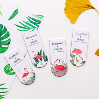 Dukson - Flamingo Print Magnetic Bookmark