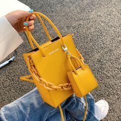 KOCORE - Top Handle Plain Crossbody Bag