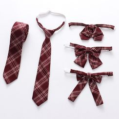 Candy House - Plaid Bow Tie / Neck Tie