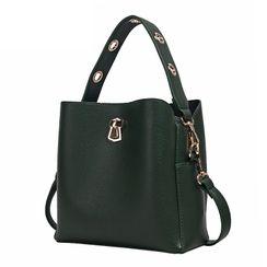 BeiBaoBao - Faux Leather Bucket Bag
