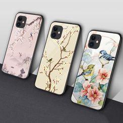 Saphir - Floral Print Phone Case - iPhone 11 Pro Max / 11 Pro / 11 / SE / XS Max / XS / XR / X / SE 2 / 8 / 8 Plus / 7 / 7 Plus / Huawei