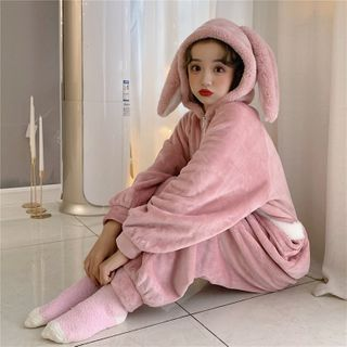 Sisyphi - Hooded Pajama Jumpsuit