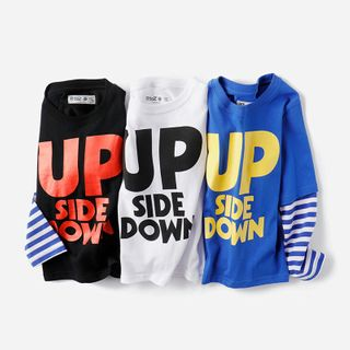 Happy Go Lucky - Kids Mock Two-Piece Long-Sleeve T-Shirt