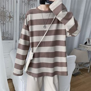 Ferdan - Long-Sleeve Striped T-Shirt