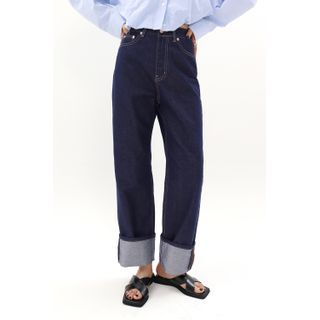 SIMPLY MOOD - Stitched Wide-Leg Jeans