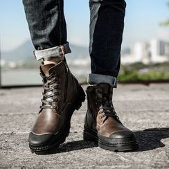 WeWolf - Genuine Leather Lace-Up Ankle Boots