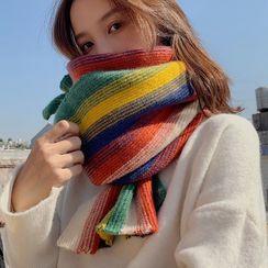 Pompabee - Striped  Knit Scarf