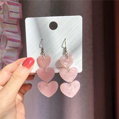 Kiksuya - Heart Dangle Earrings