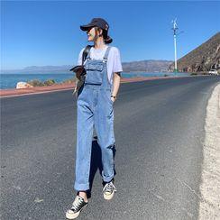 Newkoou - Denim Jumper Pants