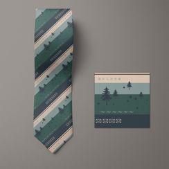 NINIRUSI - Print Striped Neck Tie
