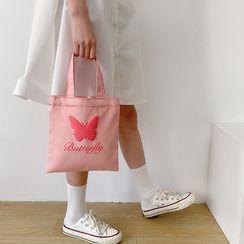 TangTangBags - 蝴蝶印花帆布手提袋