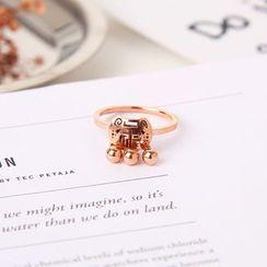 Infini - Rose Gold Plated Lock Ring