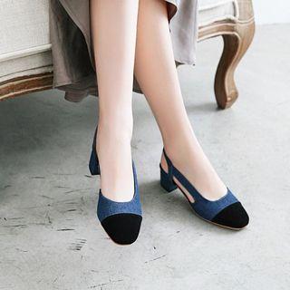 錦洋鞋業 - 粗跟牛仔涼鞋
