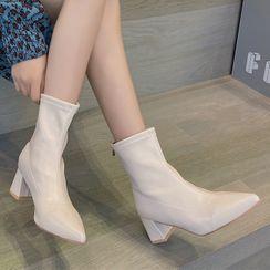 EPIO - Block-Heel Zip Tall Boots