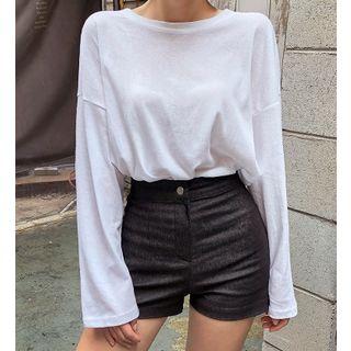 chuu - Drop-Shoulder Long-Sleeve T-Shirt