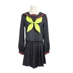Macoss - Demon Slayer: Kimetsu no Yaiba Nezuko Kamado / Makomo Kimetsu Gakuen School Uniform Cosplay Costume