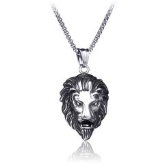 Prushia - Stainless Steel Lion Pendant Necklace