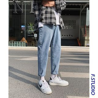 CooLook - Cropped Straight Leg Jeans