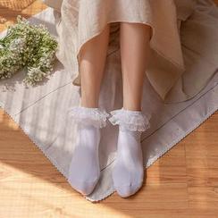 Lucky Nine - Lace Trim Socks