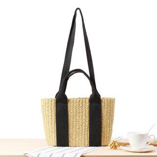 STYLE CICI - Straw Basket Tote Bag