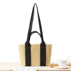STYLE CICI - Straw Basket Tote Bag