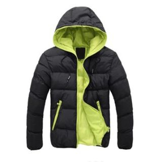 YIKES - Hooded Padded Zip Jacket