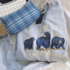 Iduna - Bear Embroidered Sweatshirt
