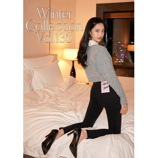 chuu - Fleece-Lined -5kg Skinny Jeans vol.135