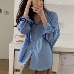 Onnell - 長袖純色襯衫
