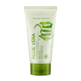 NATURE REPUBLIC - Gel-crème nettoyant apaisant et hydratant à l'aloe vera 150ml