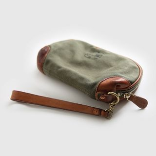 Wavecho - Genuine Leather With Canvas Long Wallet