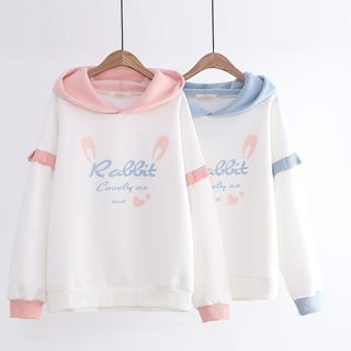 Cat Planet - Rabbit Ear Hoodie
