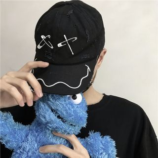 Shineon Studio - 刺绣别针做旧棒球帽